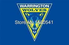Warrington Wolves Flag 3ft x 5ft Engage Rugby Super League SLE Banner Size 4 144* 96cm Flag