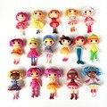 8 unids/lote Nueva 8 cm MGA mini Lalaloopsy Muñeca de los ojos de botón mayor Brinquedos juguetes para niña juguetes clásicos