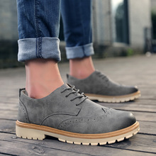 Fashion Pu Leather New EVA Brogue Shoes Man Platform Oxfords British Style Creepers Cut Outs Flat Casual Men Shoes 3 Colors