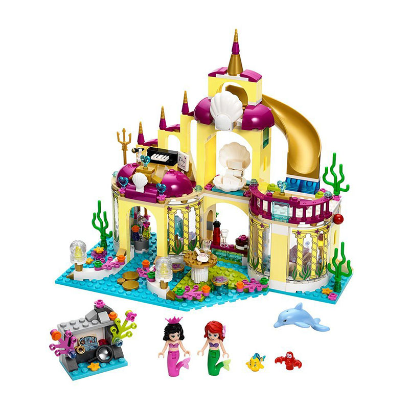 Diy Compatible With playmobil Girls Friends Series The Undersea Palace Set Castle Building Blocks Bricks Toys For Children gifts lepin diy girl friends series the undersea palace set castle building blocks bricks toys for children compatible with legoingly