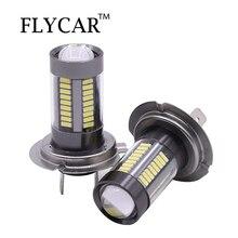 MOOSEDi 2PCS White 1000 Lumens LED H7 P13W 4014 66SMD LED Car Fog Lamp Day Running Light DRL DC 12V 24V Fog Day Driving Bulb