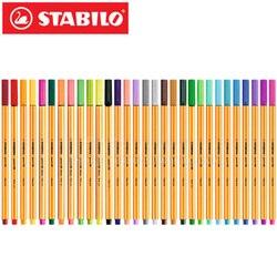 25 pçs stabilo ponto 88 fineliner fibra caneta arte marcador 0.4mm 25 cores feltro ponta esboçar anime artista ilustração técnica dra
