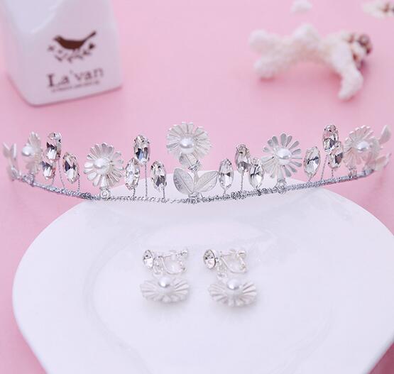 en gros pas cher prix 2016 mode argent alliage fleurs bandeau de marie diadme en cristal - Diademe Mariage Pas Cher
