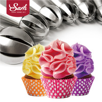7pcs Lot Metal Stainless Steel Frame Professional Cake Decorators Russian Pastry Nozzles Piping Tips For The
