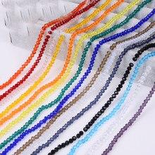 Stenya 4*3mm cristal grânulos checos rondelle forma jóias descobertas diy espaçador brincos encantos de vidro pulseira colar acessórios