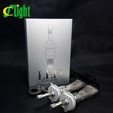R3 CNSUNNYLIGHT Fuerte Brillante 9600lm H4 H/L Haz Xenon Blanco 6000 K LLEVÓ la Linterna Del Coche Lámpara de Conversión Kit de Chips Cree 4800lm bombilla