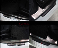 steel Door Sill Scuff Plate Threshold Cover Trim 6pcs For Mercedes Benz GLC 2016 2017