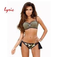 Lyric B Andeauบิกินี่ชุดPush Upชุดว่ายน้ำของผู้หญิงชุดว่ายน้ำร้อนชุดว่ายน้ำ