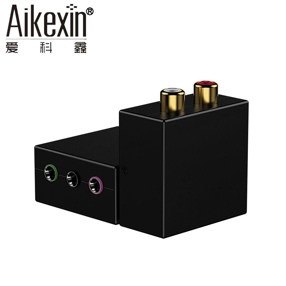 Aikexin 5.1 Jeu Console Adaptateur RCA R/L à 1/8 (3x3.5mm) jack Audio Converter pour 5.1 multimédia haut-parleur