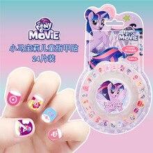 Mi pequeño Pony de los niños de juguetes de personalidad de dibujos animados impermeable etiqueta engomada del clavo congelado princesa Sophia pegatinas de uñas