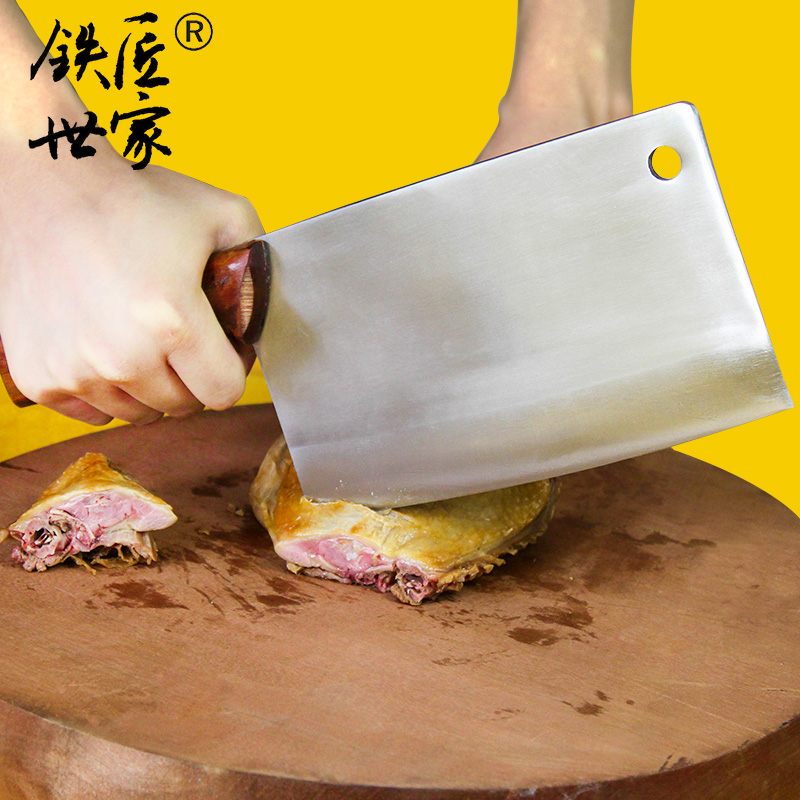 Chopping knife Stainless steel handmade forged slicing knife chop bone cleaver knife fish meat kitchen knives кухонные ножи in Kitchen Knives from Home Garden