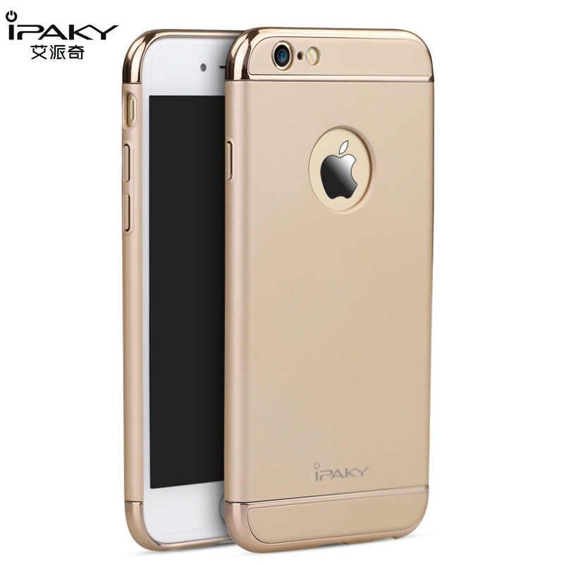 สำหรับiPhone 6 6วินาทีกรณีเดิมiPakyแบรนด์ใหม่F Undas carcasasกลวงe lectroplateกลับฮาร์ดกรณีเกราะสำหรับiPhone 6 6วินาทีกรณีปก