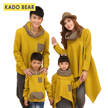 Autumn Winter Family Look Mommy Mother Father Couple Matching Kids Hoodies Baby Girl Boy Sweatshirt Daughter Son Clothes Outfits