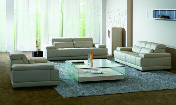 Italian Sofa 2013 New Design Classic 1 2 3 Large Size Modern Leather  Sectional Sofa Set