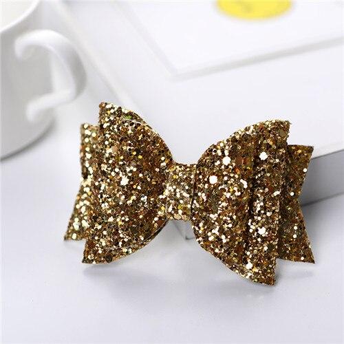 3.5 glitter glitter glitter ouro feminino bebê menina glitter cabelo arco crianças hairpins grampo de cabelo para crianças acessórios de cabelo da criança headwear