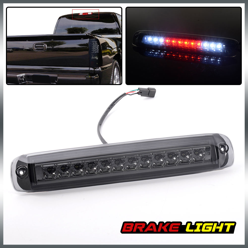 Us Shipping Smoke Led 3rd Trunk Brake Light Lamp For 99 06