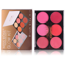 MISS ROSE Professional Makeup Blush That font b Glow b font Palette 6 Colors Natural Mineral