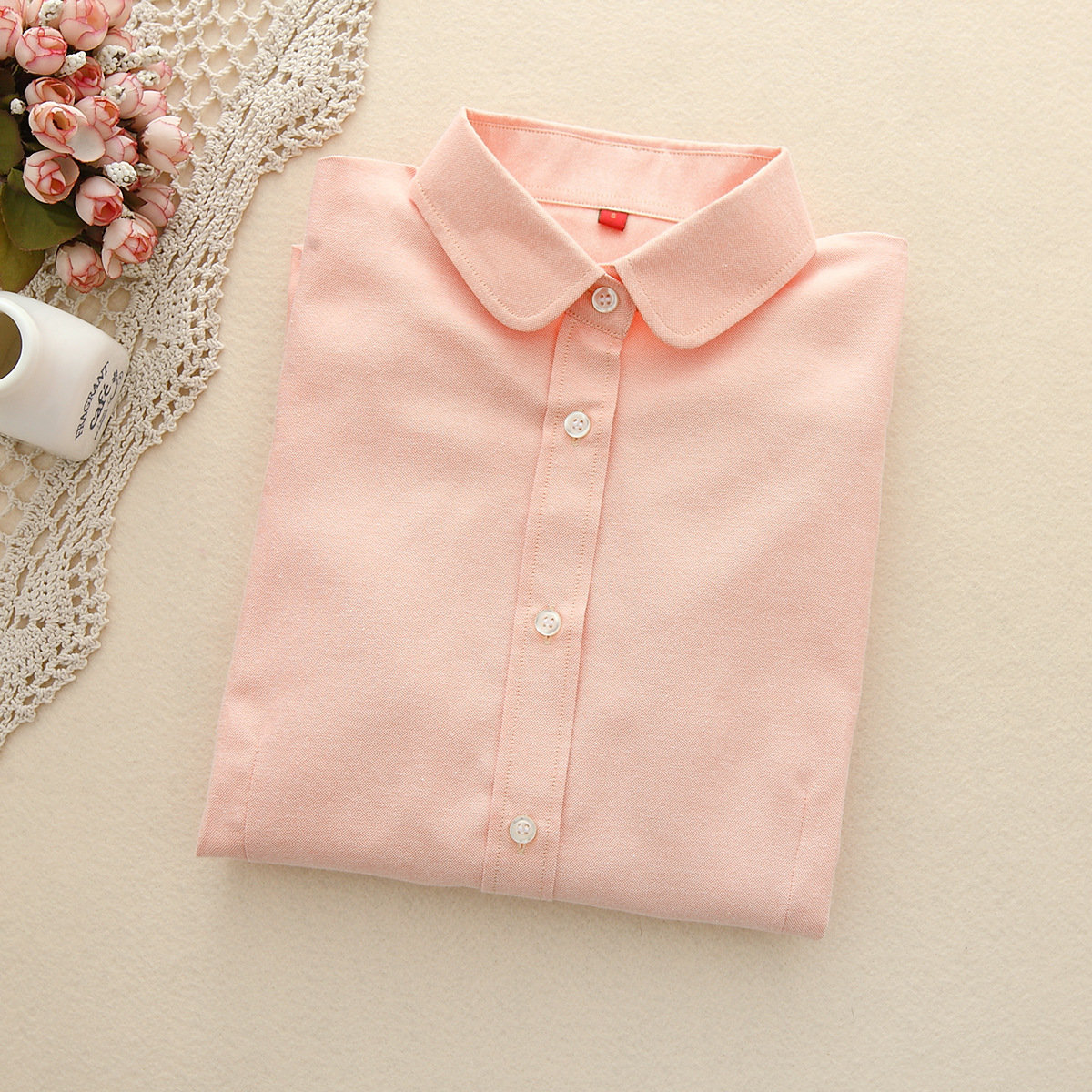 FEKEHA Women Blouses 2019 Long Sleeve Cotton Oxford Ladies Tops Office Long Sleeve Shirts Women Blusas Camisas Mujer