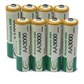 8 unids 800 mah de alta calidad de la batería de 1.2 v aa ni-mh recargables de alta capacidad original de la batería
