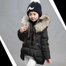 High quality Girl's Down jackets/coats winter Russia baby Coats thick duck Warm jacket Children Outerwears