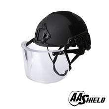 AA Shield Ballistic ACH High Cut Tactical Safety Helmet Bulletproof Glass Mask Body Armor Aramid Core NIJ IIIA 3A Kit Black