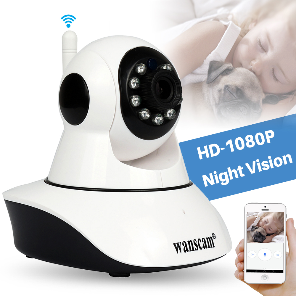 Wanscam 2MP 1080P Wifi IP Camera Wireless Indoor Home CCTV Security Camera Baby Monitor IR Night Vision P2P PTZ Mini IP Camera wistino 1080p wireless baby monitor ip camera wifi ir night vision smart home mini cameras 960p security audio video recoder p2p