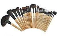 Pro Makeup 32PCS Animal Hair Foundation Brush Eyeshadow Cosmetic Makeup Brushes Set W Case As Xmas