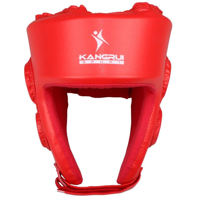 Санда Каратэ Муай Тай Boxeo тхэквондо Бокс шлем обучение шлем для детей взрослых Для мужчин Для женщин синий и красный цвета