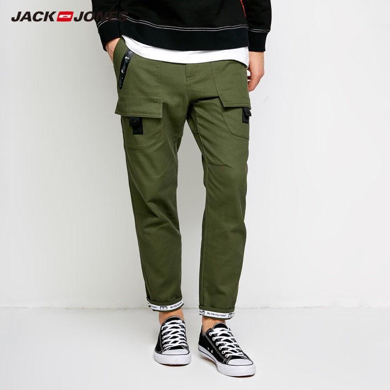 Mlmr Mens 100 Cotton Korean Style Printing Casual Trousers Slim Fit Pants Mens Cargo Pants 2018 Brand New Autumn 218314507