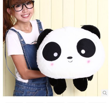 Stuffed animal  round- eyes panda toy Lying Panda cushion about 31 inch plush toy 80cm doll throw pillow wp244 40 30cm pusheen cat plush toys stuffed animal doll animal pillow toy pusheen cat for kid kawaii cute cushion brinquedos gift