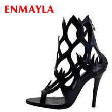 White Wedding High thin pumps open toe fashion sandals women party high heel shoes new summer boots Sexy Bohemia leather boots