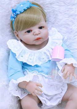 Bebe  New 55cm Full Silicone Body Reborn Girl Baby Doll Toys Newborn Princess Babies Doll Lovely children Birthday Gift  bonecas