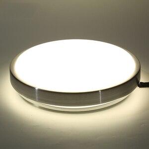 Image 3 - Индукционный светодиодный потолочный светильник с радиолокационным датчиком и звуковым управлением, Lamparas De Techo, ванная комната, лестницы, балкон, прихожая, детская потолочная лампа