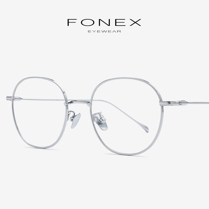 Pure B Titanium Eyeglasses Frame Women 2019 Retro Prescription Spectacles Myopia Optical Glasses Frames Men Korean