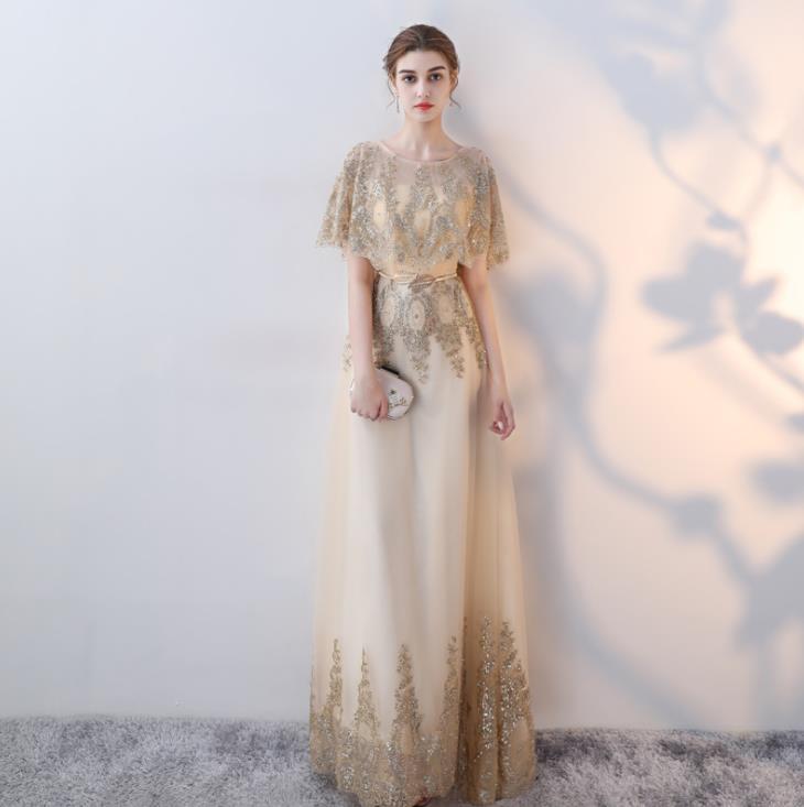 YIDINGZS Champagne Bling Bling Sequins   Evening     Dresses   2019 Party Elegant   Dress