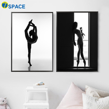 Ballet Girl Wall Art Canvas Painting Nordic Posters And Prints Pop Art Black White Wall Pictures For Living Room Girl Room Decor стоимость