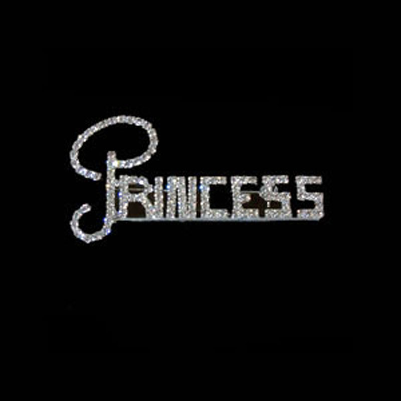 HOT design Custom made gift rhinestone PRINCESS fashion words initial pin brooch ornament jewelry accessories 6