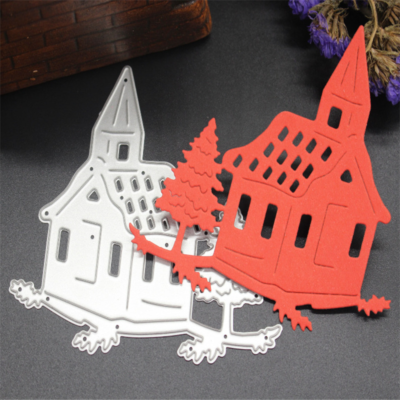 SCD234 Wood House Metal Cutting Dies For Scrapbooking Stencils DIY Album Cards Decoration Embossing Folder Die Cutter Tools Mold