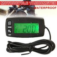 Waterproof Tachometer Backlit Digital Display Hour Meter for Motocycle 2/4 Stroke Engines Car Styling