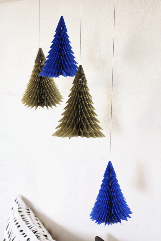 navygold honeycomb christmas tree decorations tissue paper trees centerpiece table center for christmas decoration in pendant drop ornaments from home - Navy And Gold Christmas Decorations