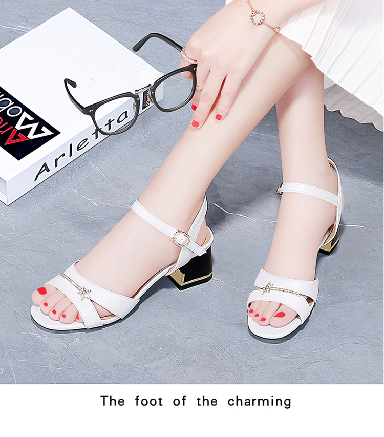 209 Guciheaven Women Sequins Sandals Ankle Mid Heel Block Party Open Toe Bling Sweet Princess Buckle