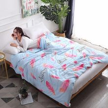 150*200 180*220 200*230 Autumn Summer Thin Quilt Adult Kids Soft Cotton Bedspreads 1.2m 1.35m 1.5m 1.8m 2.0m Bed Cover Blankets60(China)