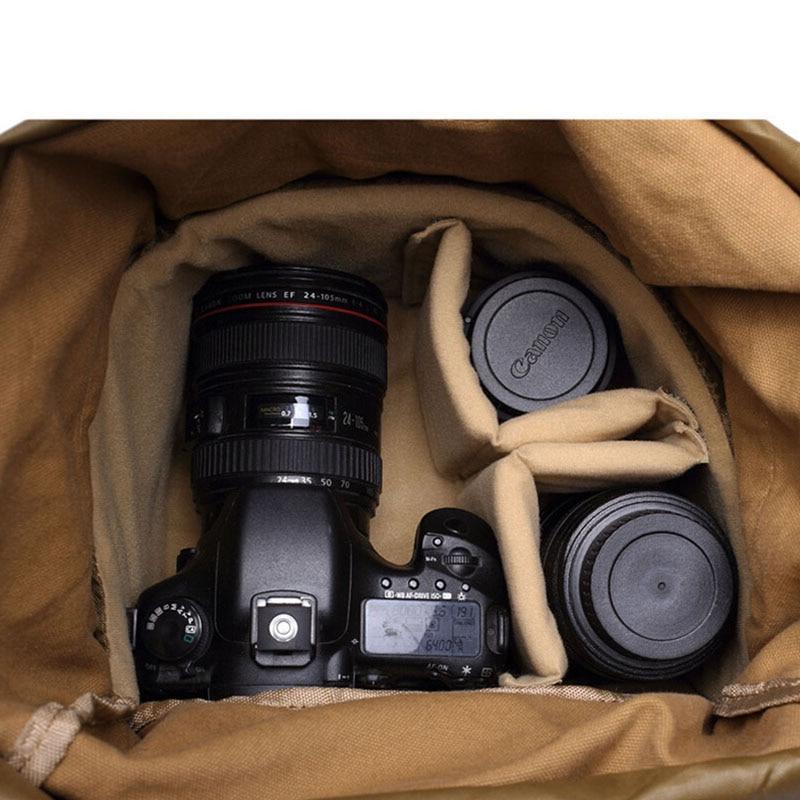 Rucksack Bag Shockproof Photography Shoulder Case waterproof Canvas DSLR SLR Camera Backpack for Nikon Digital Camera Video in Camera Video Bags from Consumer Electronics