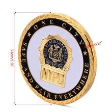 OOTDTY Горячая Нью-Йоркский Полицейский отдел позолоченная памятная монета коллекция