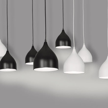 Modern Art Pendant Lamps Led painted aluminum Classic Pendant Dining Room Light Modern Pendant Bar Beat Light Chandelier Lights