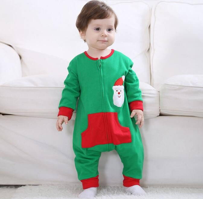 Androktones Newborn Infant Baby Clothes Pure Cotton Santa Claus Romper Hooded Jumpsuit Onesie Cosplay Boys Girls Spring Costume