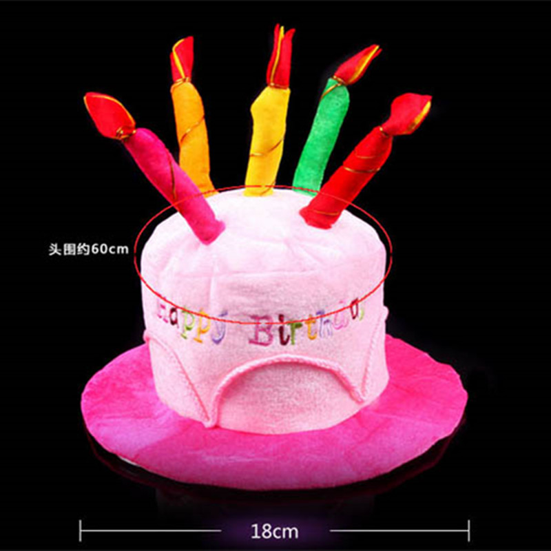 Men Women Happy Birthday Cake Candle Funny Hat Party Adult In Hats From Home Garden On Aliexpress