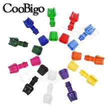 6pcs Pack Colourful Cord Ends Clip Zipper Puller Paracord Cord Tether Tip Lock Plastic Outdoor Backpack Bag Parts Accessories(China)