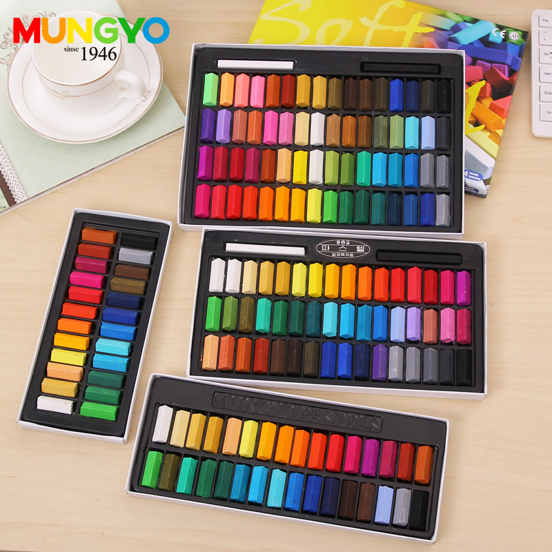 Mungyo MPS  Soft Pastels Short Color  24 32 48 64 Colors Set Square Type Pastel Coloring Crayons  Art Drawing