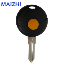 hot deal buy 1 button remote car key shell for benz smart fortwo 1998-2012 us replacement car key case uncut blade flip car key cover